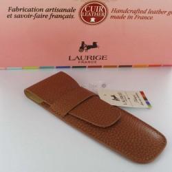 Etui Cuir Laurige® Gold 2 Stylos