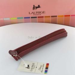 Etui-Trousse Cuir Laurige® Bordeaux