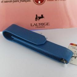 Etui Cuir Laurige® Turquoise 1 Stylo Aimanté