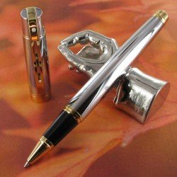 "Stylo Roller Sheaffer®  ""Serie 300"" Chrome et Doré"