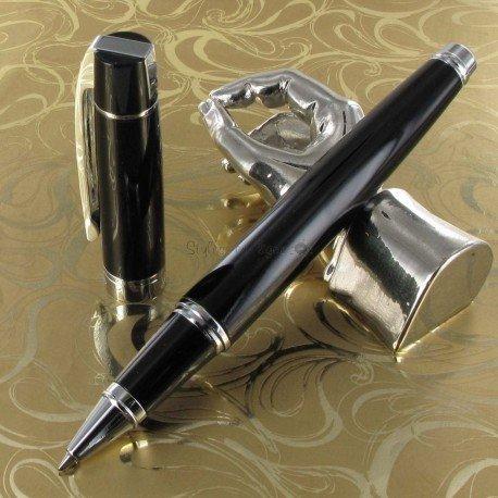 "Stylo Roller Sheaffer® Corps Noir / attributs chromés ""Series 300"""